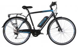 E-Motion Ampere Herr 10V, 10 vxl elcykel, svart
